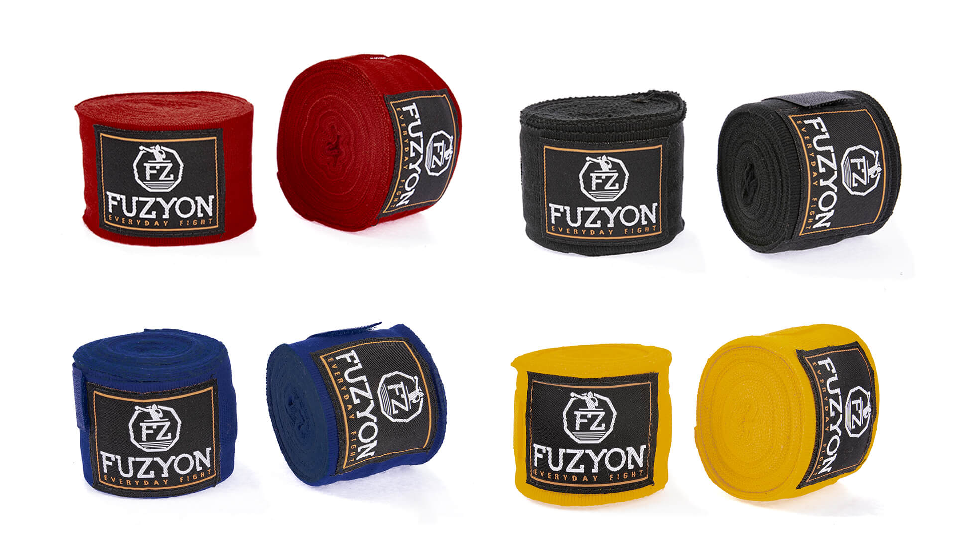 Kit 4 Bandagens Muay Thai Fuzyon
