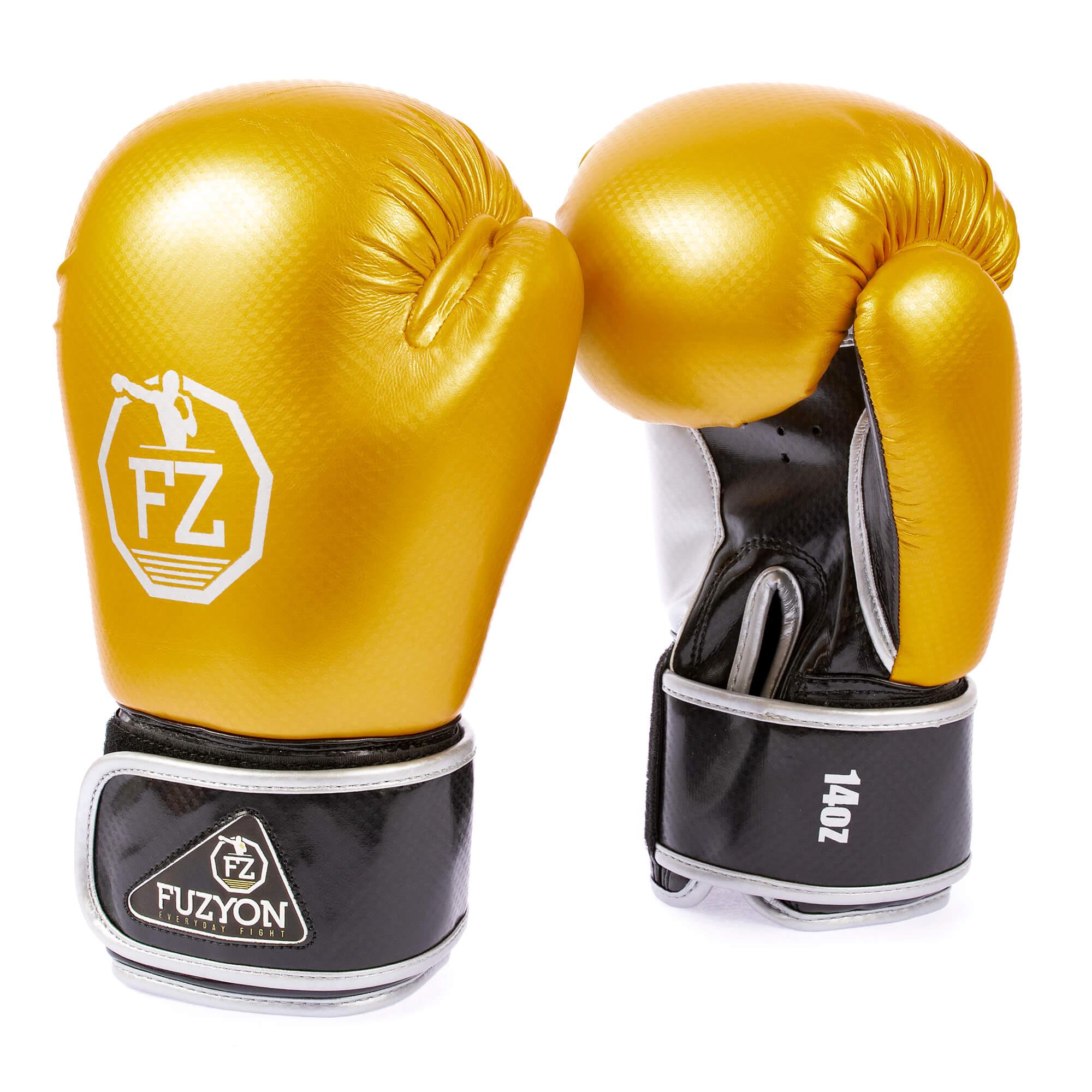 Luva de Boxe Carbono Dourada