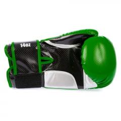 Luva de Boxe Carbono Verde